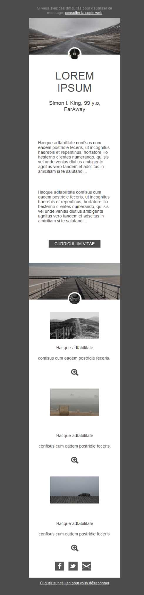 Templates Emailing Photography Sarbacane
