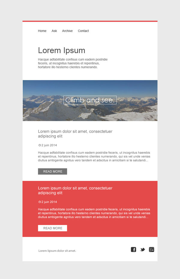 Templates Emailing Swiss Sarbacane