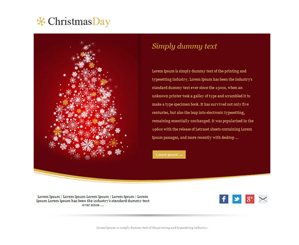 Templates Emailing Christmas Day Sarbacane