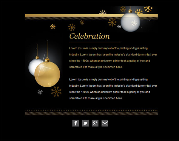Templates Emailing Celebration Sarbacane