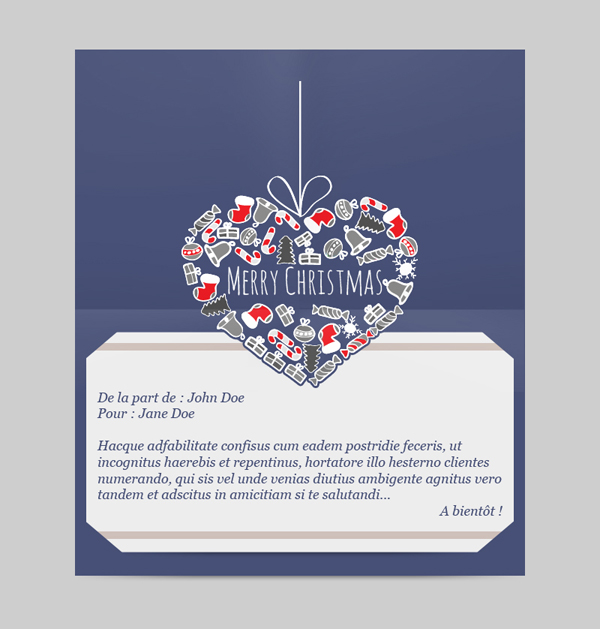 Templates Emailing Christmas Heart Sarbacane
