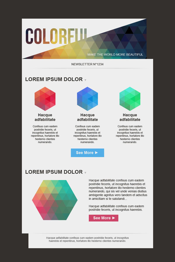Templates Emailing Colorful Sarbacane