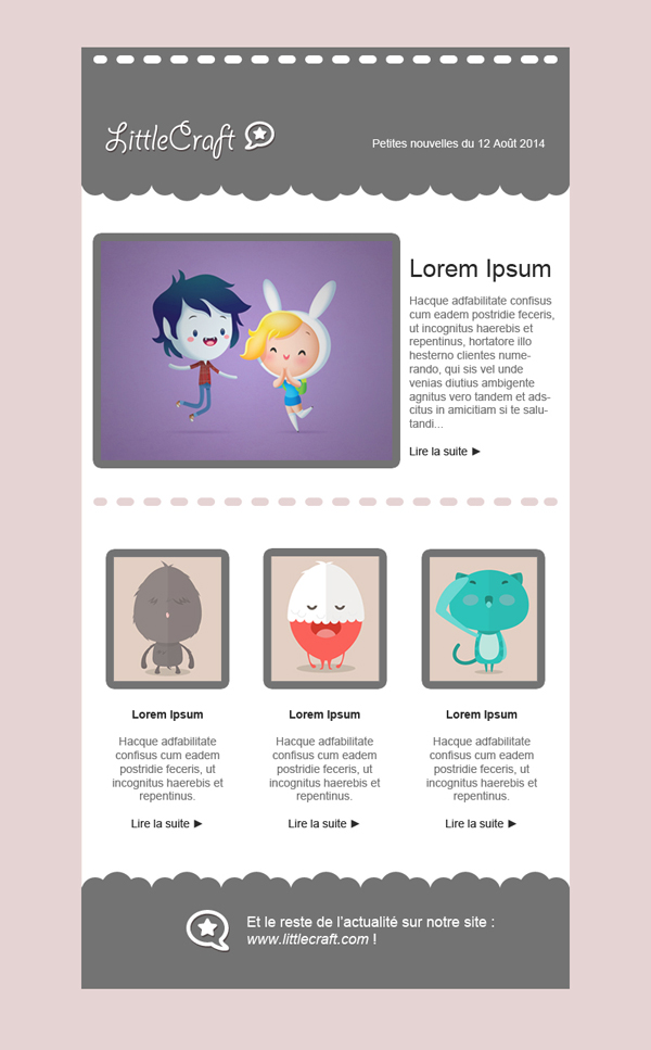 Templates Emailing Little Craft Sarbacane