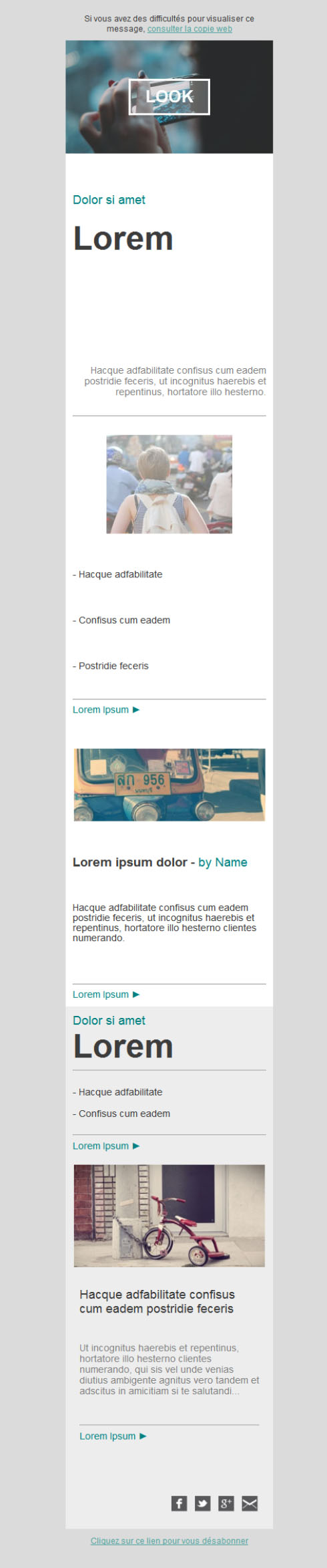 Templates Emailing Look Sarbacane