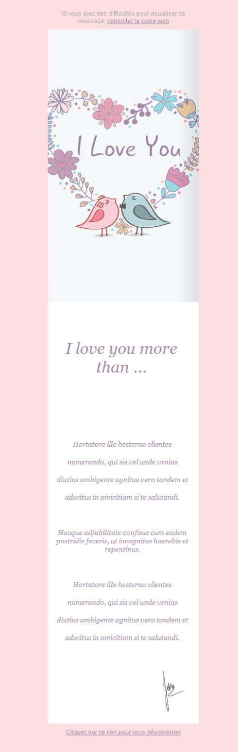 Templates Emailing Love Card Sarbacane