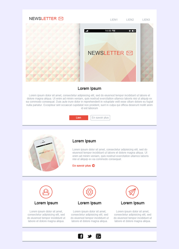 Templates Emailing Newsletter Sarbacane