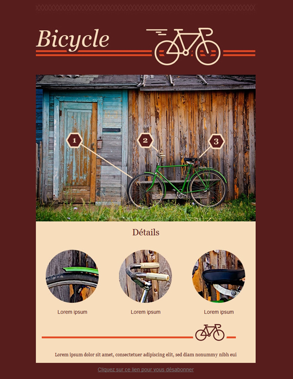 Templates Emailing Bicycle Sarbacane
