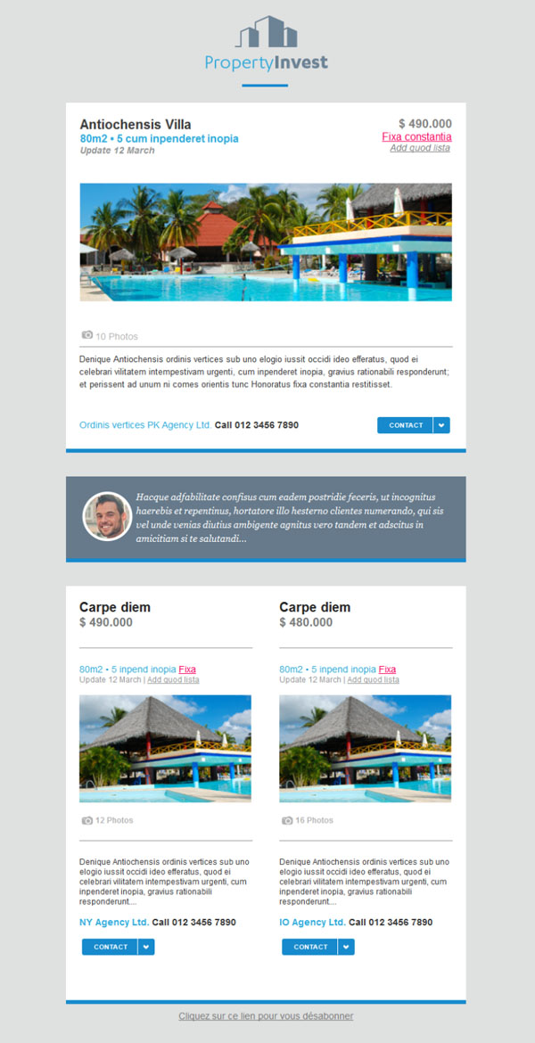 11 free and professional newsletter templates for real estate – Real Estate Newsletter Template