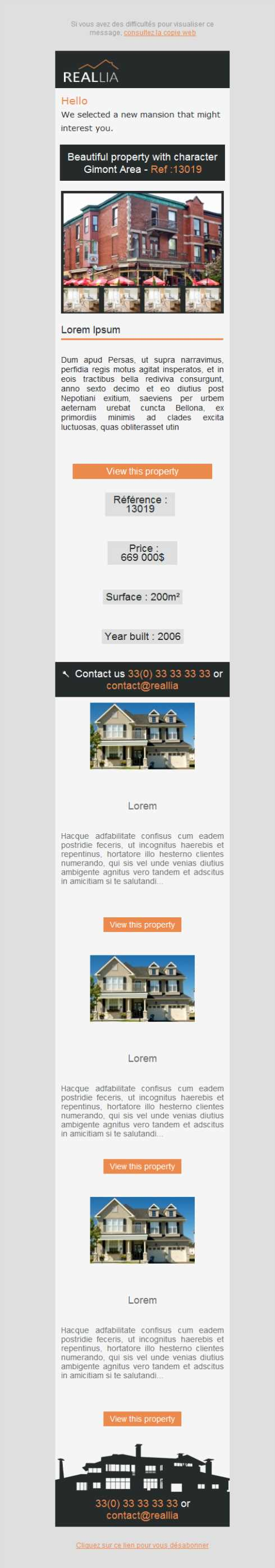 Templates Emailing Realtor Listings Sarbacane