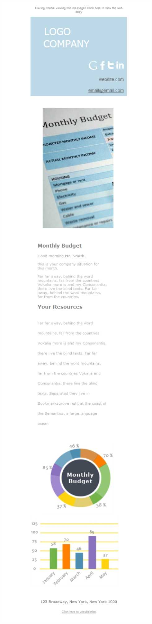 Templates Emailing Accounting Budget Sarbacane