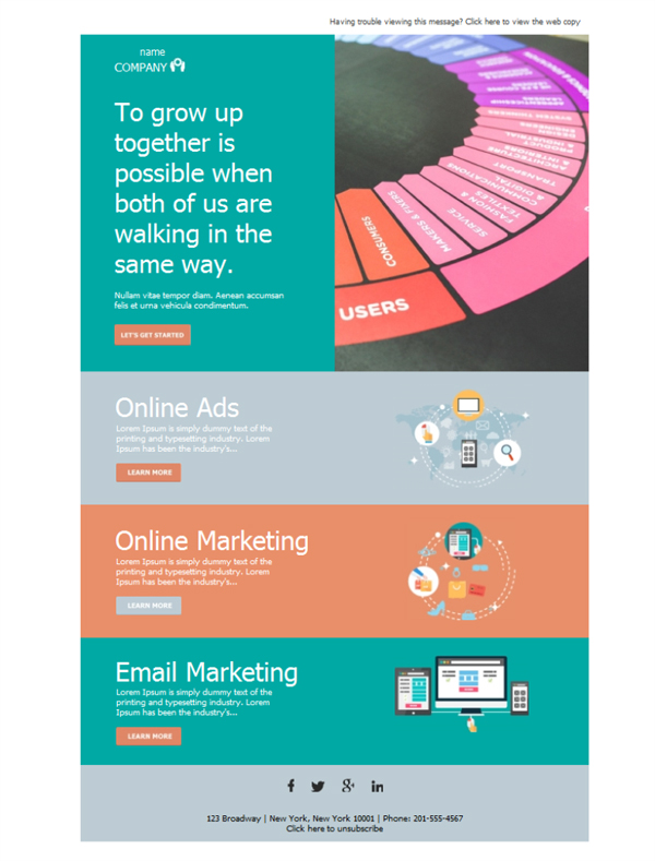 Templates Emailing Marketing Growth Sarbacane