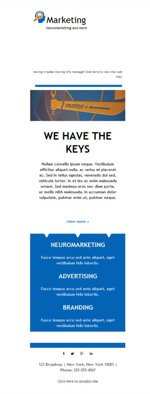 Templates Emailing Marketing Keys Sarbacane