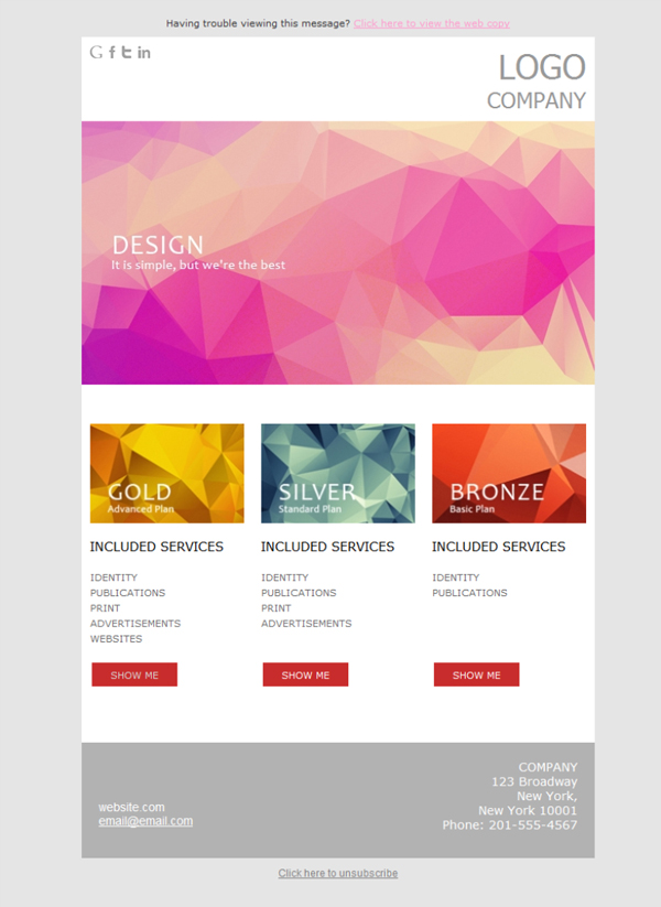 Templates Emailing Design Abstract Sarbacane