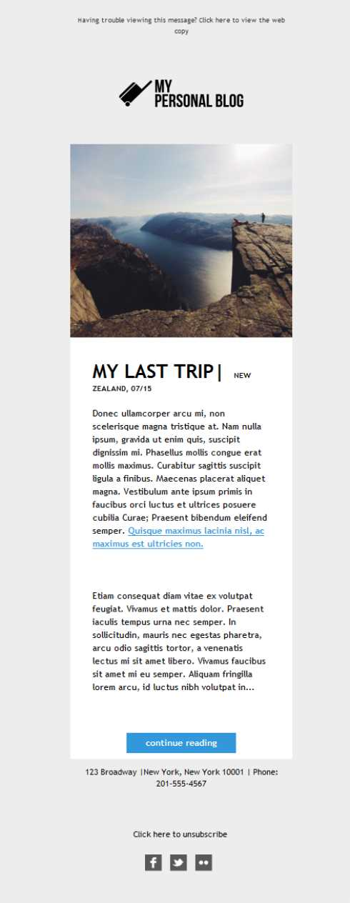 Templates Emailing Blogger My Last Trip Sarbacane