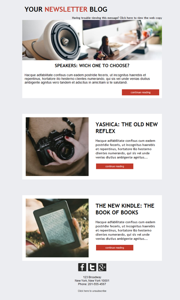 Templates Emailing Blogger Newsletter Sarbacane