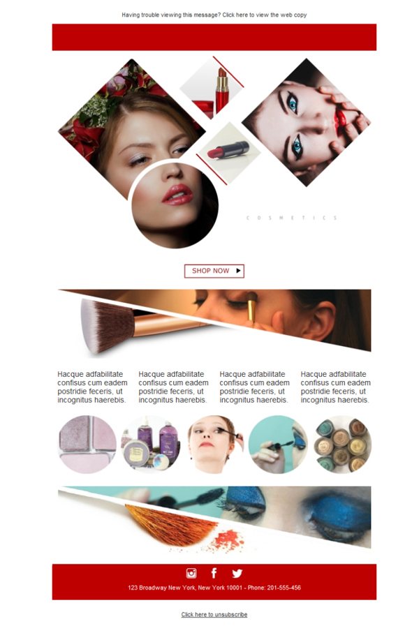 Templates Emailing Cosmetic Shop Sarbacane