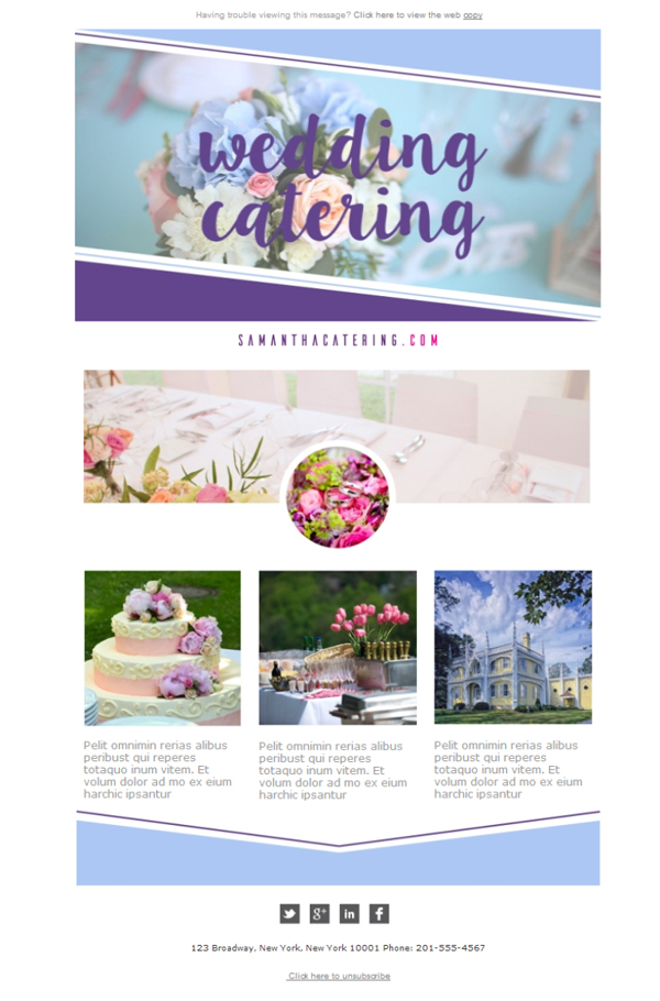 catering email template free email templates download design catering wedding