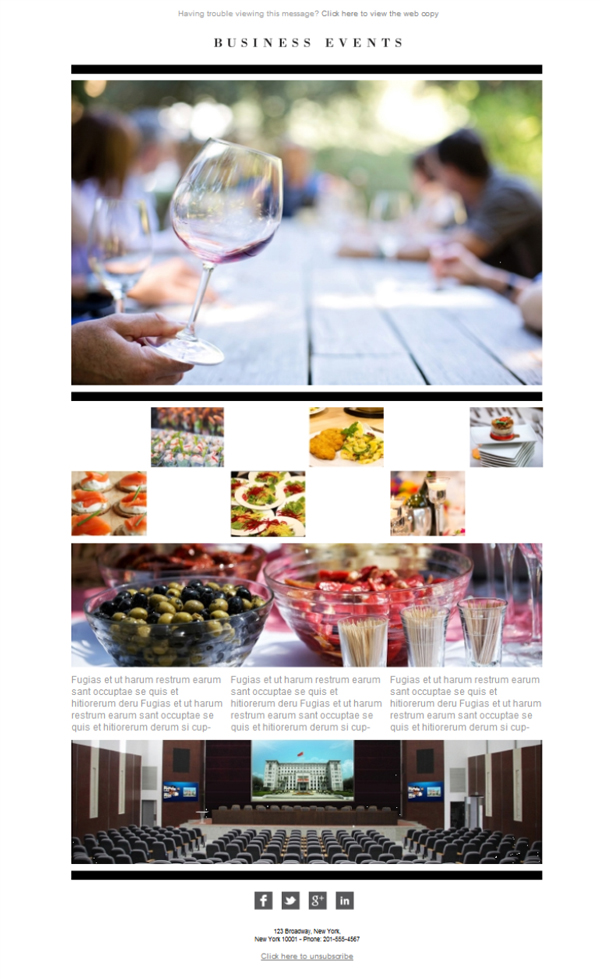 Templates Emailing Catering Business Sarbacane