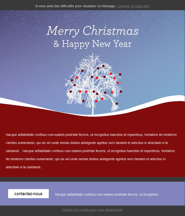 Templates Emailing Christmas Tree Sarbacane