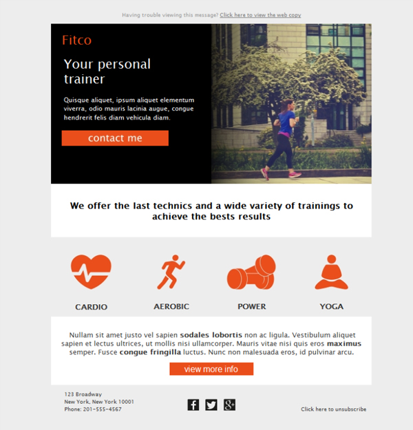 free fitness newsletter templates 28 images free email templates