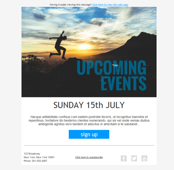 free email templates download design fitness event invite