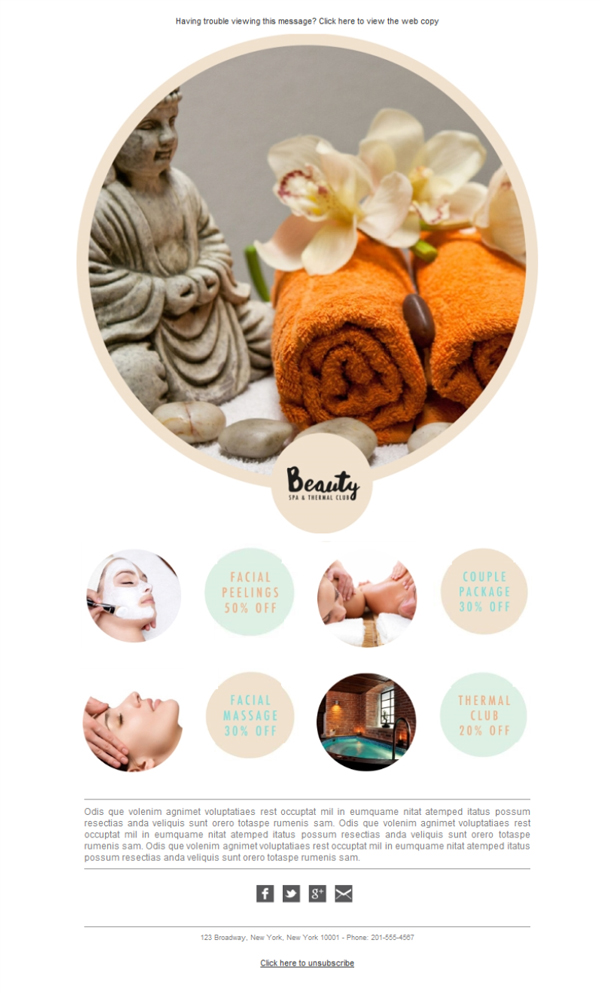 Templates Emailing Spa Beauty Sarbacane