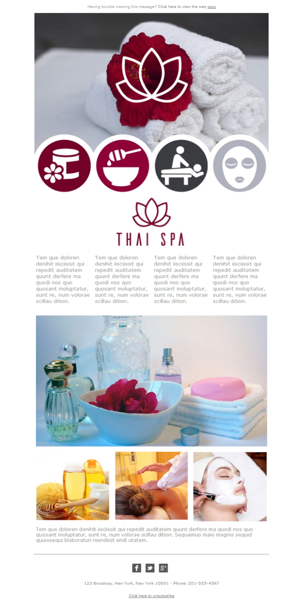 Templates Emailing Spa Thai Rose Sarbacane