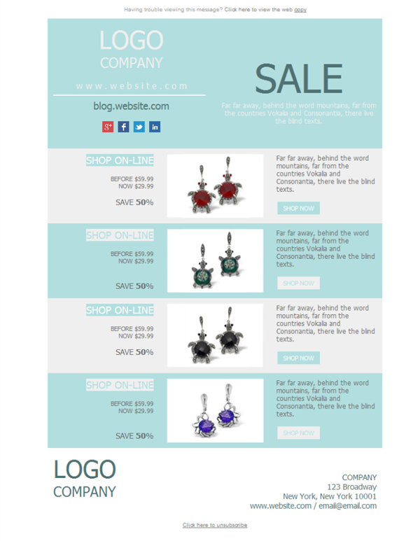 Templates Emailing Jewelry Sale Sarbacane