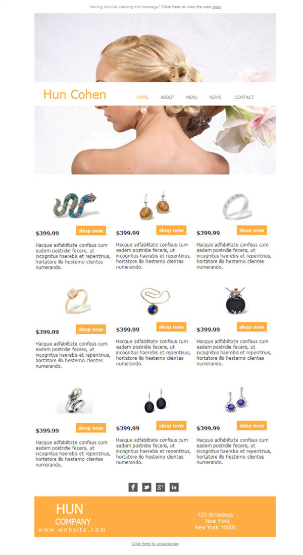 Templates Emailing Jewelry Store Sarbacane