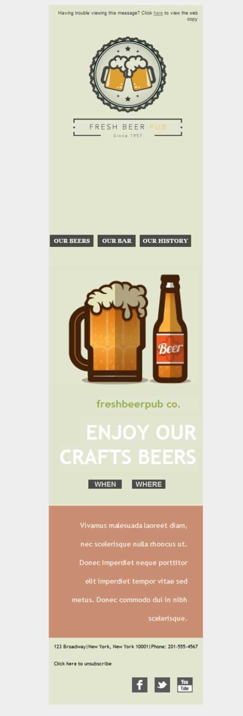 Templates Emailing Brewery Fresh Sarbacane