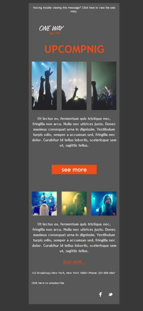 Templates Emailing Bar Nightclub Upcoming Sarbacane