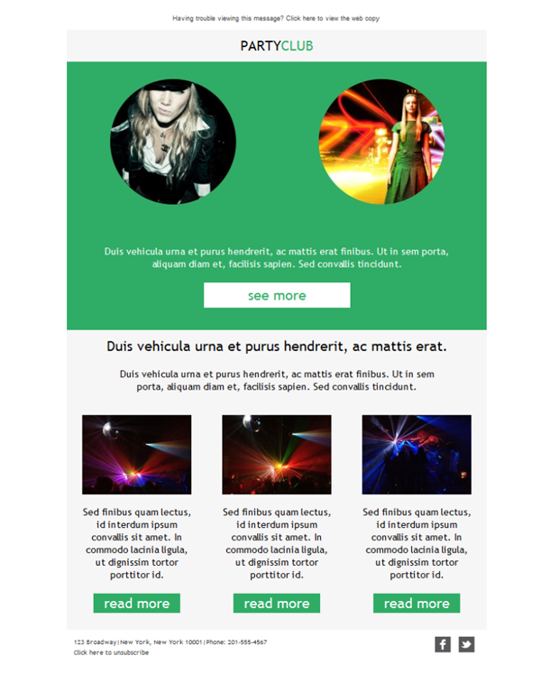 Templates Emailing Bar Nightclub Party Sarbacane