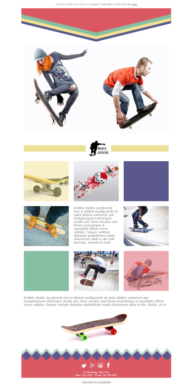 Templates Emailing Sports Skate Lovers Sarbacane