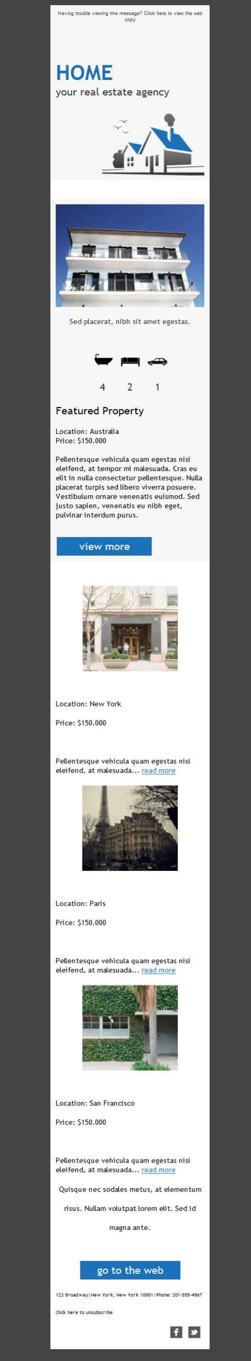 Free Email Templates Download Design Real Estate Agency