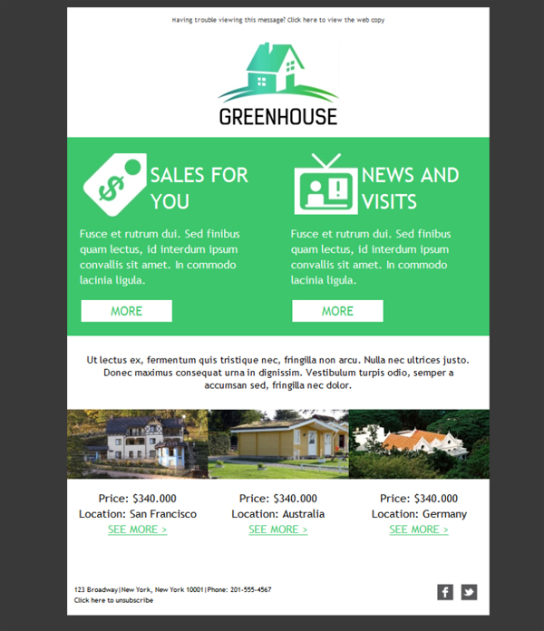 Template Emailing Gratuit Telechargez Le Modele Real Estate Greenhouse