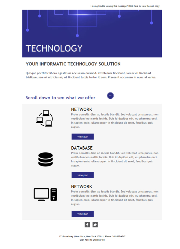 Templates Emailing IT Technology Sarbacane