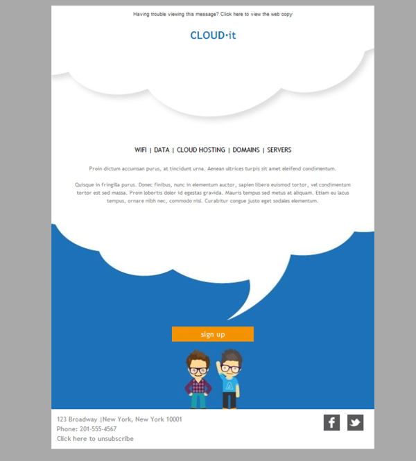 Templates Emailing IT Team Cloud Sarbacane