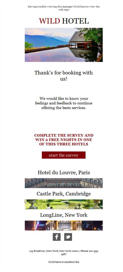 Templates Emailing Hotel International Sarbacane