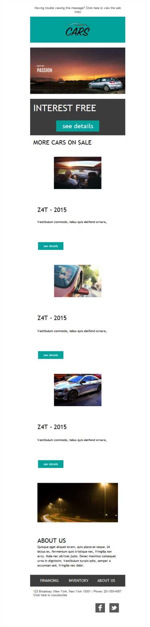 Free email templates - Download design Car Dealership