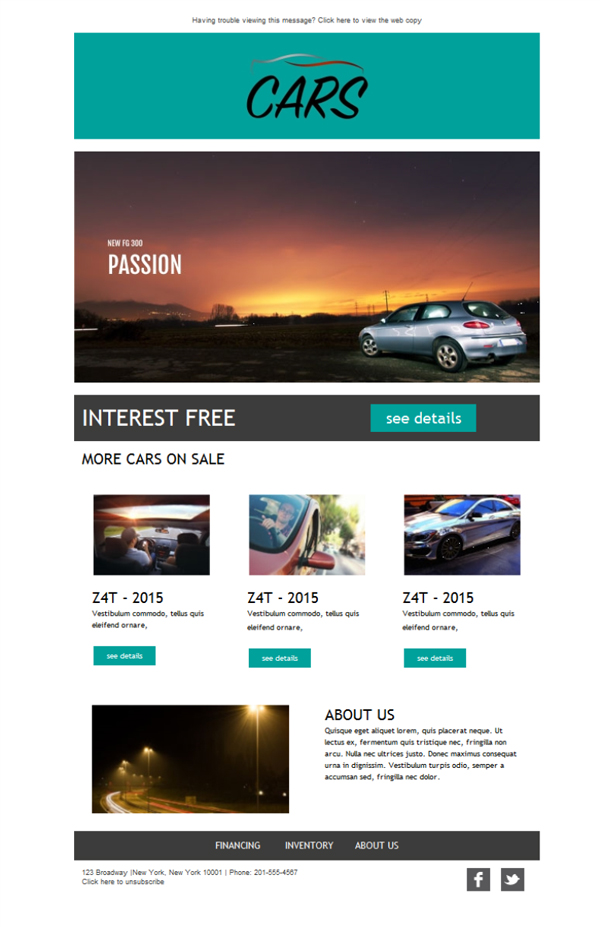 Templates Emailing Car Dealership Sarbacane