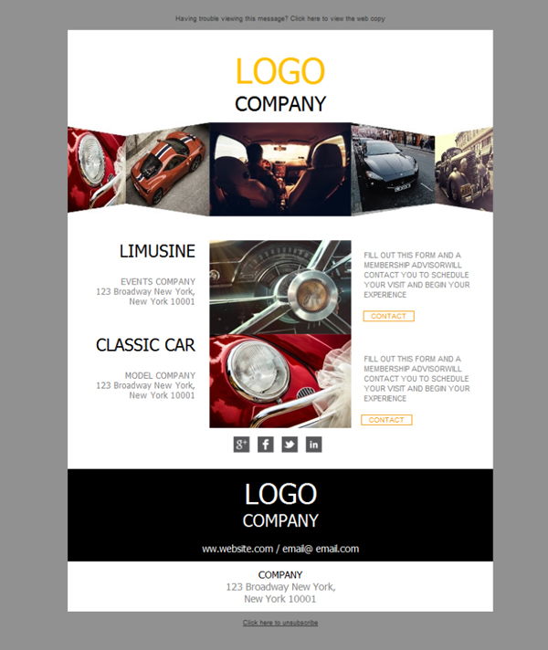 Free email templates - Download design Car Dealer Classic