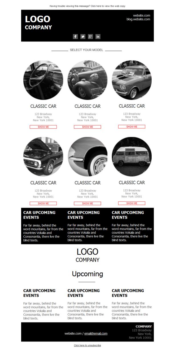 plantilla de newsletter responsive gratis car dealer grey para email marketing mailify. Black Bedroom Furniture Sets. Home Design Ideas