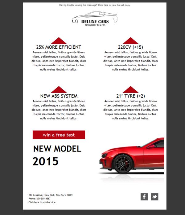 plantilla de newsletter responsive gratis car dealer delux para email marketing mailify. Black Bedroom Furniture Sets. Home Design Ideas