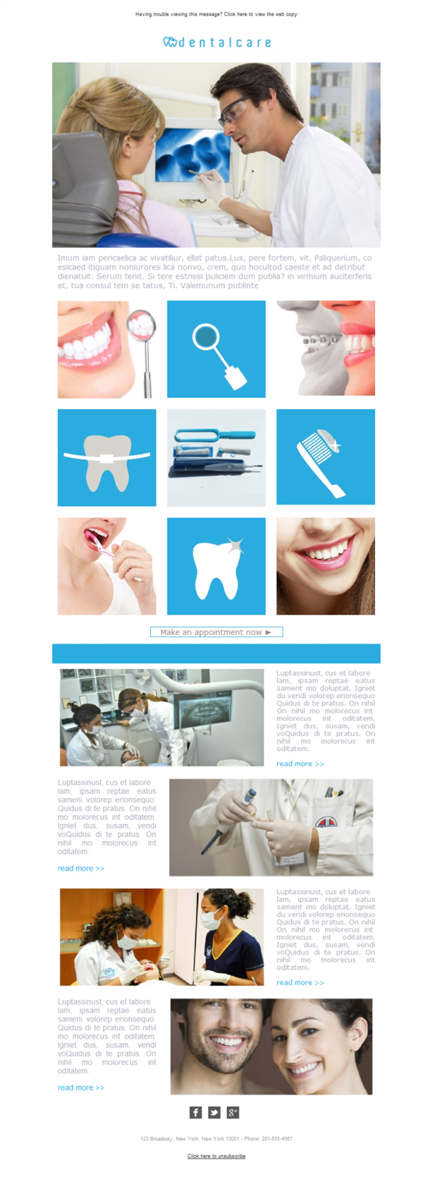 Templates Emailing Dentist Care Sarbacane