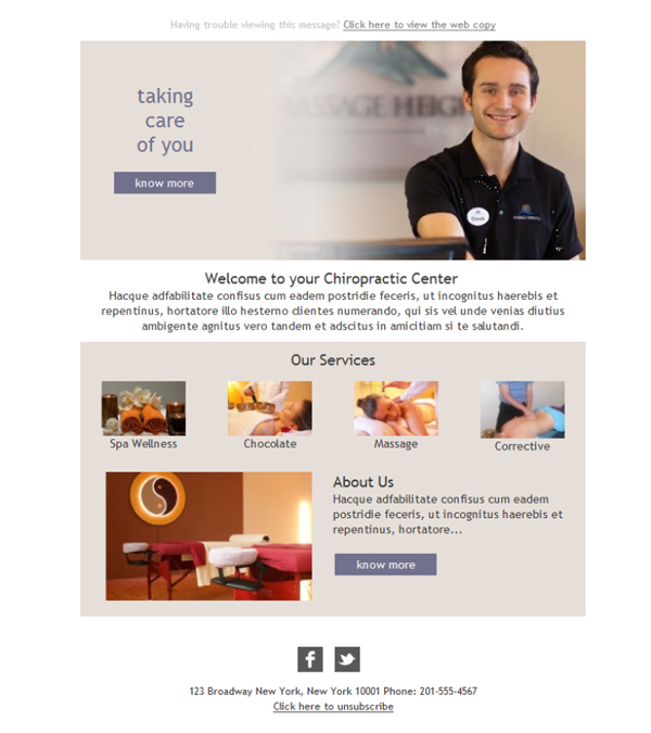 Free email templates - Download design Chiropractic Center