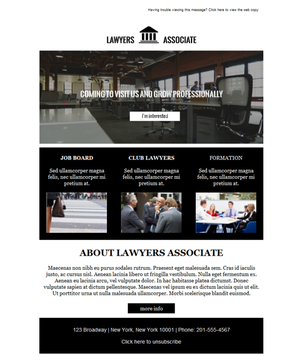 Templates Emailing Association Of Lawyers Sarbacane