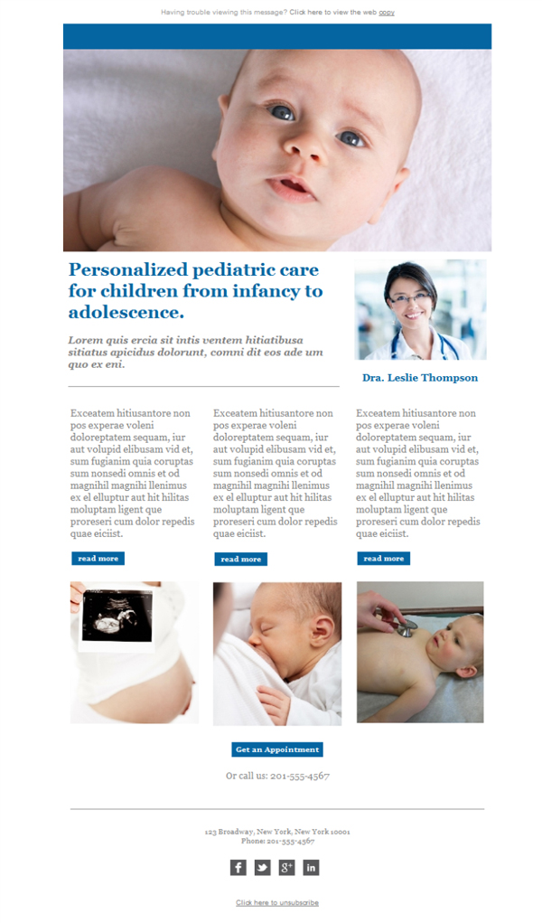Templates Emailing Pediatrician Newsletter Sarbacane