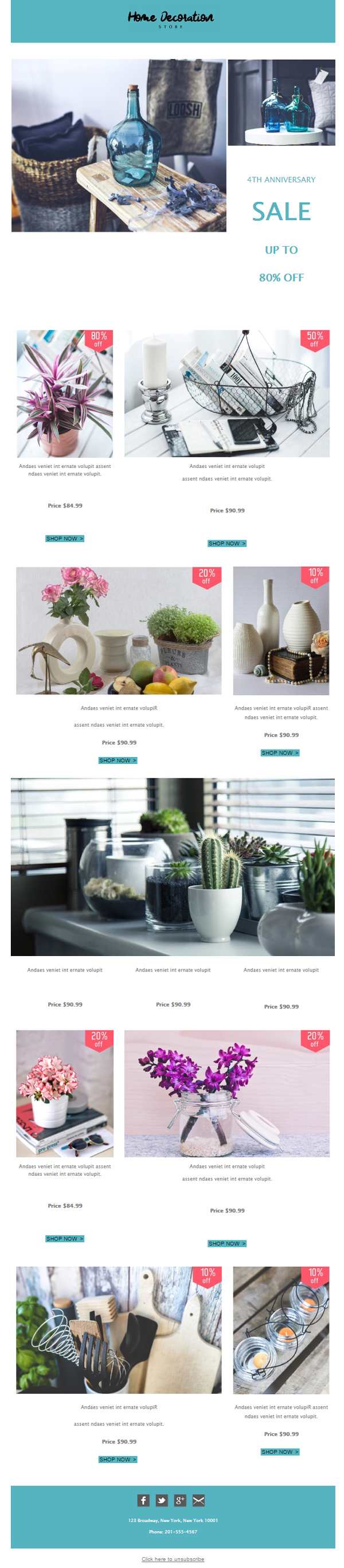Templates Emailing Retail Home Decor Sarbacane