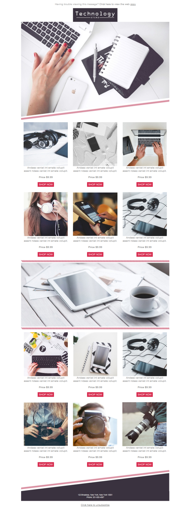 Templates Emailing Retail Technology Sarbacane
