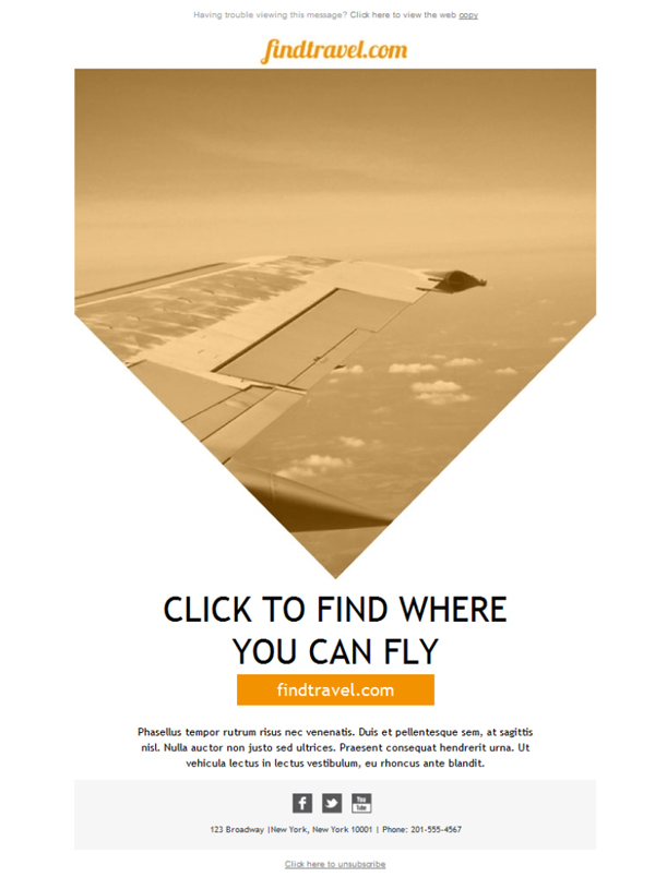 Templates Emailing Travel Agent Finder Sarbacane